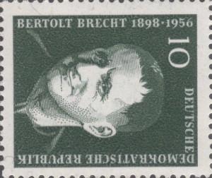 Bertolt Brecht Postzegel - dwars