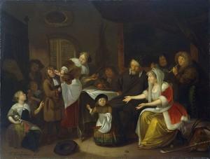 a Sint Richard Brakenburg, Het Sint Nicolaasfeest 1685 Rijksmuseum ECHT