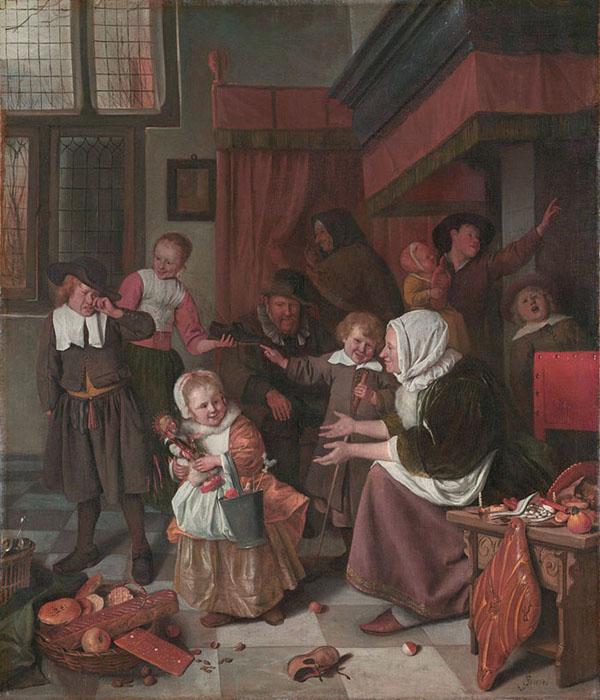 Jan Steen, Het Sint Nicolaasfeest, 1665-68